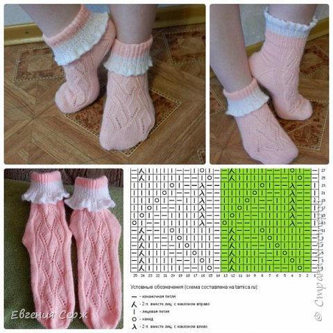 Всех приветствую на своей страничке!!! Носочки были связаны давно на подарок,но показываю только сейчас! фото 3