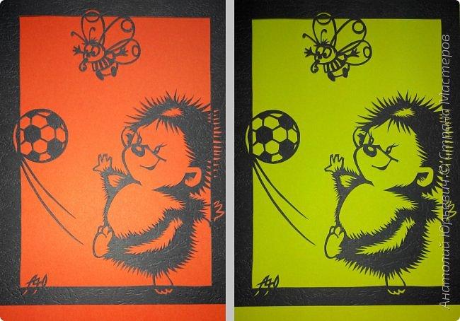 """- Всем добрый день! Вашему вниманию новая открытка которая порадует не только детей, но и взрослых. - Рисунок для эскиза был взят из интернета, изменён и доработан под """"вырезалку"""". Размер 12х16см. фото 6"""