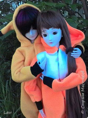 всем привет)) хочу представить вам моих новых куколок, которые появились у меня сравнительно недавно))) Эльфик Мунто и прекрасная девушка Цубаки Камелия) и конечно они получили в подарок свою первую одежду - Кигуруми)) фото 4