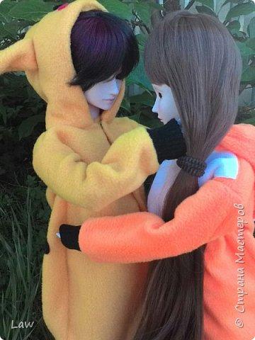 всем привет)) хочу представить вам моих новых куколок, которые появились у меня сравнительно недавно))) Эльфик Мунто и прекрасная девушка Цубаки Камелия) и конечно они получили в подарок свою первую одежду - Кигуруми)) фото 6