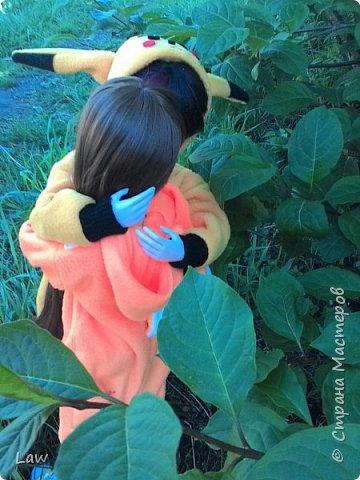 всем привет)) хочу представить вам моих новых куколок, которые появились у меня сравнительно недавно))) Эльфик Мунто и прекрасная девушка Цубаки Камелия) и конечно они получили в подарок свою первую одежду - Кигуруми)) фото 5