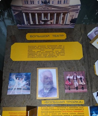 """Здравствуйте, жители и гости Страны Мастеров! В начале прошлого года в некоторых московских школах проходил конкурс на лэп-книгу, изготовленную собственными руками. Дети сами выбирали тематику работы и должны были максимально интересно её представить в виде книги с разворотами, кармашками, объёмными элементами и разными другими """"прибамбасами"""", характерными именно для лэп-книг. Понятное дело, что второклассники априори не могут это сделать сами от и до , без помощи и подсказок взрослых. Поэтому я приложила максимум фантазии и сил , чтобы помочь претворить в жизнь задумку одной замечательной девочки Ани, которая очень любит балет. Через две недели кропотливой работы получилась вот такая книжка. Это наш с ней дебют в таком творчестве. фото 3"""
