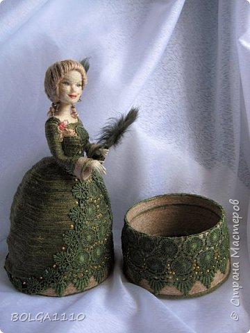 Шпагатная кукла-шкатулка . фото 4