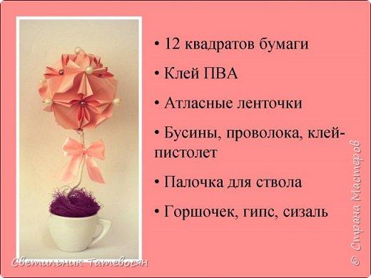 "Мастер-класс ""Бумажный топиарий"" фото 2"