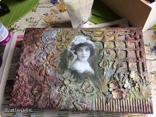 Всем доброго дня! Давно хотелось сделать шкатулку из старой книги.....Наконец нашлась подходящая, которую не жалко было пустить под переделку. Вот, что у меня получилось.... фото 7