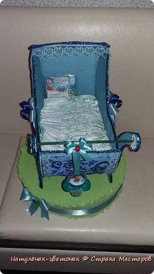 торт из памперсов в коляске фото 4