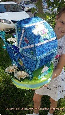 торт из памперсов в коляске фото 7