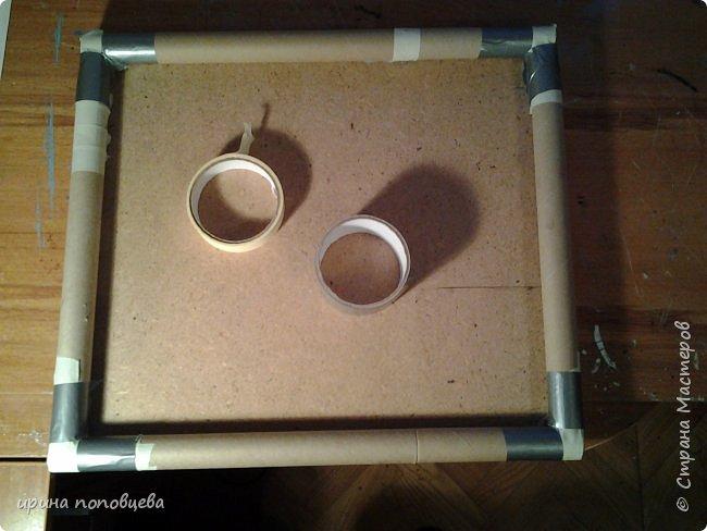 """Добрый день,мои дорогие!Сегодня хочу показать второе панно из """"виноградной"""" серии.Размер 46см на 40см.Раму делала сама,на этот раз использовала трубочки из-под пищевой фольги,и так как вопросов получаю много,решила сделать МК по созданию такой рамочки.Она мне понравилась больше,чем просто из картона. Итак,нам нужны следующие материалы и инструменты- кусок ДВП нужного размера трубочки от пищевой фольги декоративный шнур фактурные обои салфетки,ТБ скотч алюминиевый и бумажный клей ПВА строительный термопистолет канцелярский нож краски акриловые,лак фото 2"""