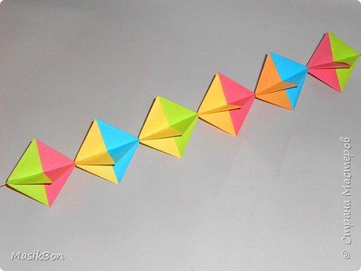 Гирлянда из бумаги оригами