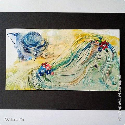 """Пробуюсь в живописи - """"Знойный закат""""  фото 5"""