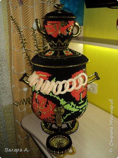 Живя в Тульской области, очень хотелось попробовать сделать самовар. Ну и конечно, какой самовар без чайника, кружки, подноса и естественно без баранок. фото 3