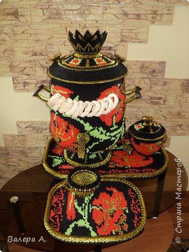 Живя в Тульской области, очень хотелось попробовать сделать самовар. Ну и конечно, какой самовар без чайника, кружки, подноса и естественно без баранок. фото 12