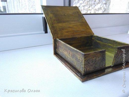 Вот такие коробочки ,хотелось попробовать что то метализированное состаренное фото 4