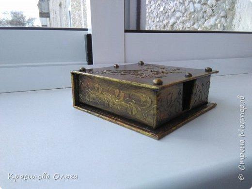 Вот такие коробочки ,хотелось попробовать что то метализированное состаренное фото 5