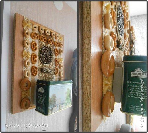 Кусочки досок, оставшиеся при сборке кухонной мебели превратились в 2 панно для кухни. фото 5