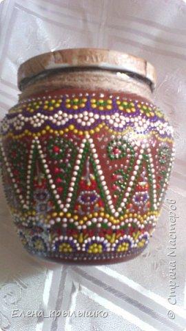 Первая роспись точечками,чехол для очков,использовала контур по стеклу и керамике DECOLA (Санкт-Петербург) фото 2