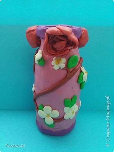 """На основе баночки от """"имунеле"""" ребята изготовили вазочки для мам на 8 Марта. Фантазия ребят безгранична. У каждого получилась своя неповторимая вазочка. фото 1"""