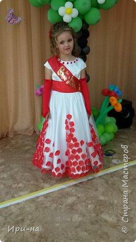 Скоро у моей внучечки выпускной в д/с. Ну и как следствие встал вопрос о платье. Решили сшить сами. И вот, что у нас получилось. фото 8