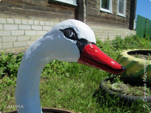 наконец то я доделала лебедя, нашла ему место,и спешу вам похвалиться! фото 5