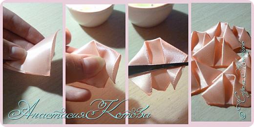 Доброго времени суток, дорогие друзья)  Сегодня я хочу рассказать вам, как сделала розу из лент. На создание одной розы у меня уходит 30 минут. фото 8