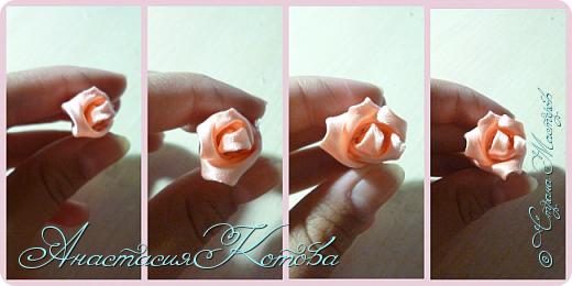 Доброго времени суток, дорогие друзья)  Сегодня я хочу рассказать вам, как сделала розу из лент. На создание одной розы у меня уходит 30 минут. фото 10