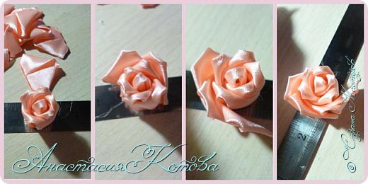 Доброго времени суток, дорогие друзья)  Сегодня я хочу рассказать вам, как сделала розу из лент. На создание одной розы у меня уходит 30 минут. фото 11
