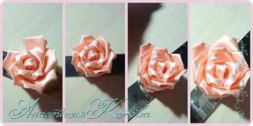 Доброго времени суток, дорогие друзья)  Сегодня я хочу рассказать вам, как сделала розу из лент. На создание одной розы у меня уходит 30 минут. фото 12