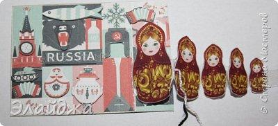 Тема:Россия, обязательное условие наличие Матрешки  Правила этапа совместника условия тут (http://stranamasterov.ru/node/1087039 ). Ещё 200 лет назад о Матрёшке никто ещё не знал , а   в  60-е годы прошлого века, когда в СССР стали приезжать иностранные гости для учёбы и участия во всевозможных фестивалях,каждый  хотел приобрести раскладную куклу на память. Собственно, и сегодня каждый иностранец тоже желает матрёшку купить в память о своём пребывании в России. Такие  объемные карточки с 3Д =эффектом получились  фото 21
