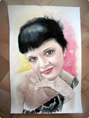 Женский портрет. Акварель. Формат А4.  фото 4