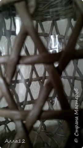 В прошлом году вырастила тыквы лагенарии. Разрезала тыкву, просверлила отверстия, оплела.   фото 10