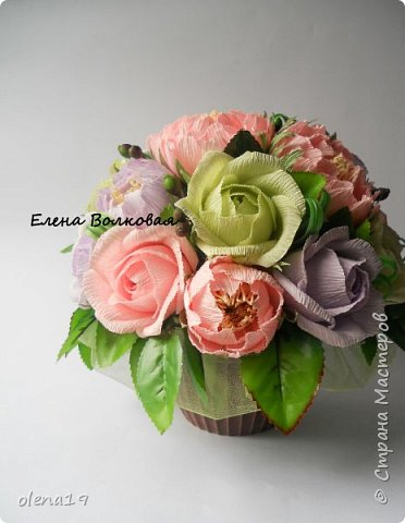 Сегодня покажу новый цветок для меня - пион. Корзинка с пионами. фото 7