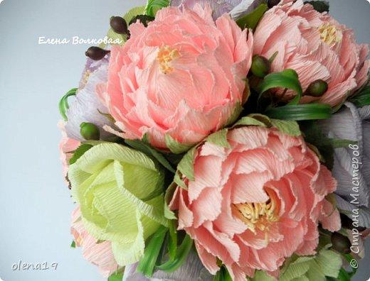 Сегодня покажу новый цветок для меня - пион. Корзинка с пионами. фото 8