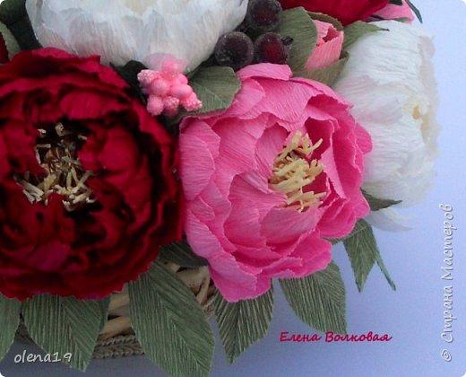 Сегодня покажу новый цветок для меня - пион. Корзинка с пионами. фото 5