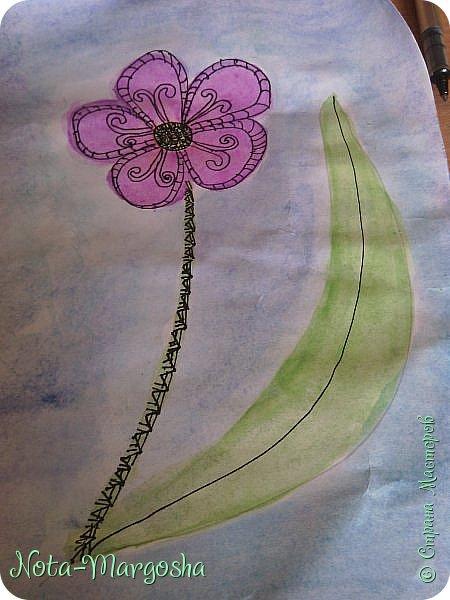 Здравствуйте жители СМ!  Сегодня я расскажу как нарисовать цветок в стиле дудлинг.  фото 6