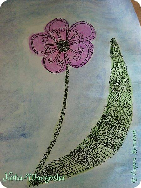 Здравствуйте жители СМ!  Сегодня я расскажу как нарисовать цветок в стиле дудлинг.  фото 1