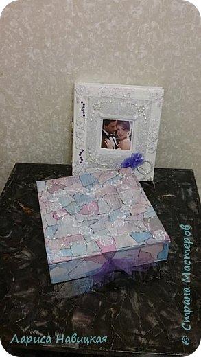 Альбом был готовый,я его немного приукрасила,коробку делала с нуля. фото 1