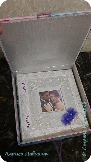 Альбом был готовый,я его немного приукрасила,коробку делала с нуля. фото 7