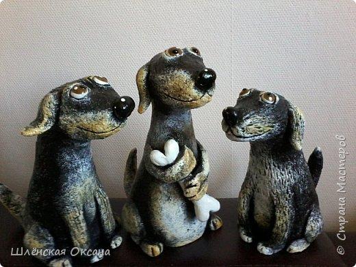 Доброго времени суток, Страна Мастеров!Вот такие собачки у меня получились,наверное их зовут Шарик,Бобик и Тузик. фото 1