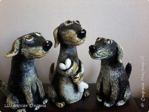 Доброго времени суток, Страна Мастеров!Вот такие собачки у меня получились,наверное их зовут Шарик,Бобик и Тузик. фото 8