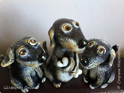 Доброго времени суток, Страна Мастеров!Вот такие собачки у меня получились,наверное их зовут Шарик,Бобик и Тузик. фото 6