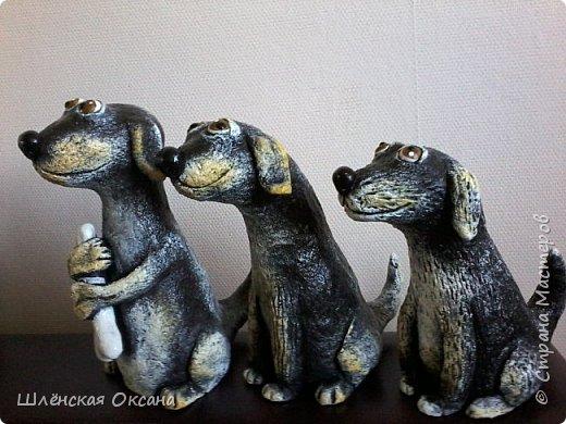 Доброго времени суток, Страна Мастеров!Вот такие собачки у меня получились,наверное их зовут Шарик,Бобик и Тузик. фото 2