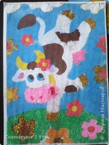 Моей Лизочки картины из песка..... фото 2