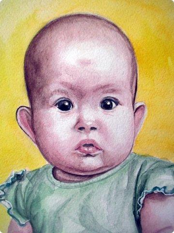 Детский портрет. Акварель. Формат А4.  фото 4
