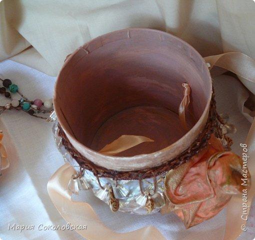 """Добрый день дорогие жители Страны Мастеров! Представляю Вам свою новую работу - заварной чайничек """"Когда цвели сады.."""". Сделан в подарок.  фото 14"""