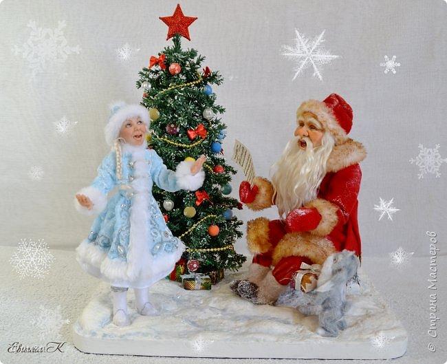 Должен же быть и у Деда Мороза такой праздник. По такому случаю споем песню)))) Все выполнено вручную. фото 1