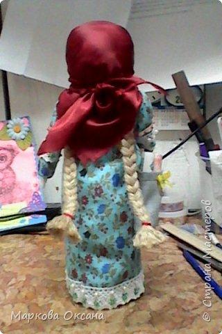 """Добрый день! Принимайте - кукла оберег """"Успешница"""" ,сделана в подарок очень хорошей женщине , рост 32 см.Расшита бисером , пайетками , обшита тесьмой. фото 4"""