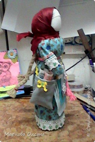 """Добрый день! Принимайте - кукла оберег """"Успешница"""" ,сделана в подарок очень хорошей женщине , рост 32 см.Расшита бисером , пайетками , обшита тесьмой. фото 3"""