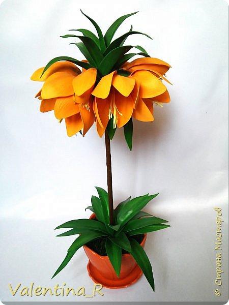 """Творю для себя... Люблю цветы, но делать их не совсем получается, но хочу... """"Вырастила"""" рябчик Императорский...  фото 1"""