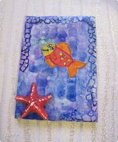 """Привееет всем!!! Представляю вам свои первые АТС карточки """"Морские обитатели"""" фото 2"""