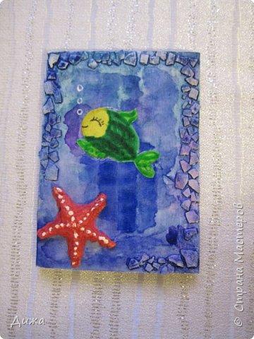 """Привееет всем!!! Представляю вам свои первые АТС карточки """"Морские обитатели"""" фото 4"""